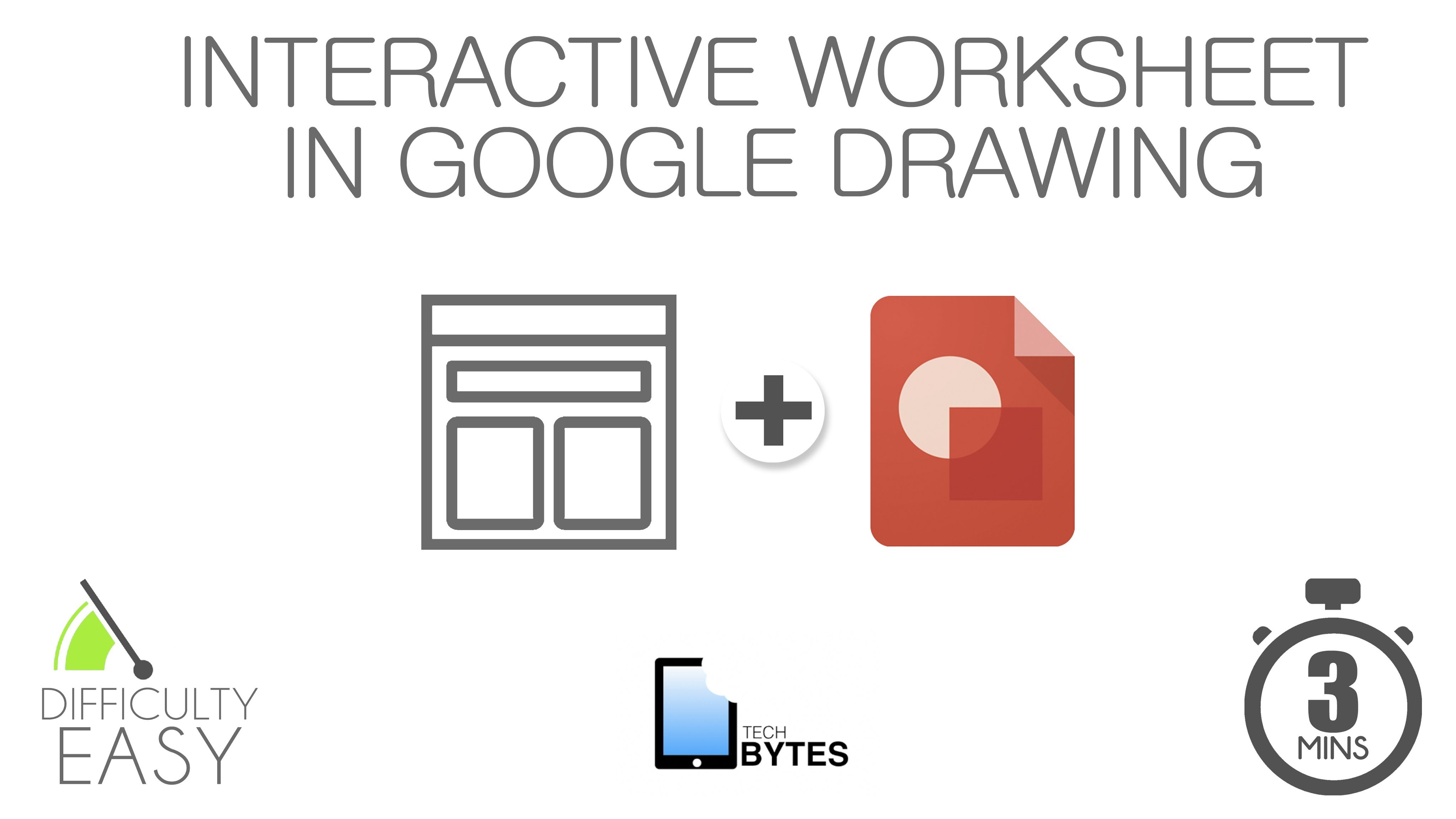 Creating Interactive Worksheets In Drawing