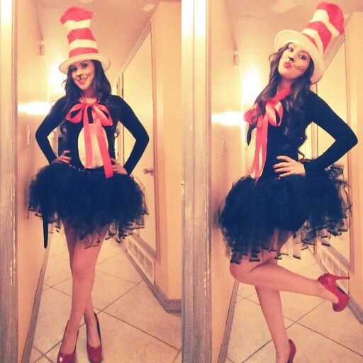My DIY Cat In The Hat halloween costume Cool costumes Pinterest - cute easy halloween costume ideas