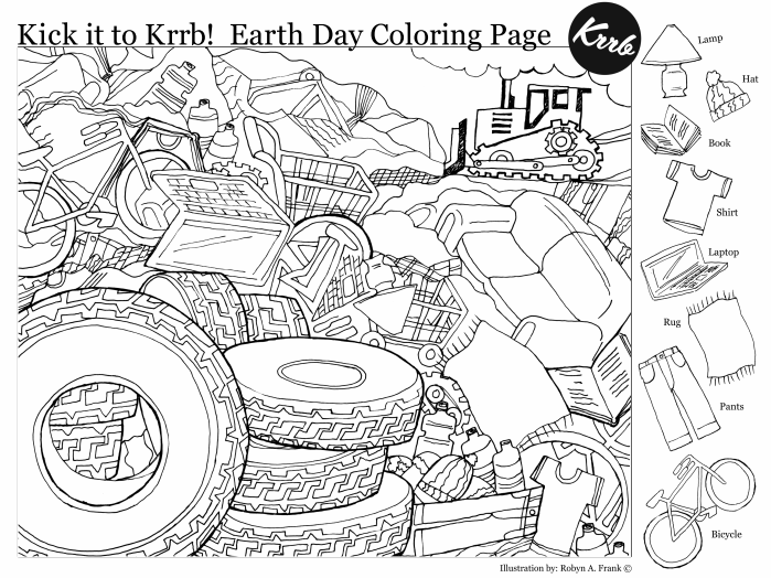 Coloring Worksheets Free Printable Earth Day Hidden Pictures