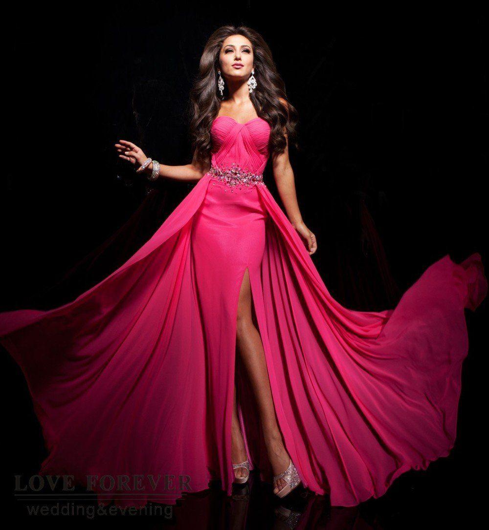 Verdadeiro Pic Alta Silt Fantastic Design Clássico Glamorous drapeado Longos vestidos de Noite e vestidos-em Vestidos de Vestuário e Acessór ...