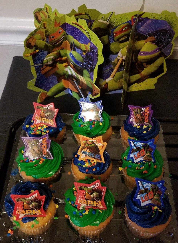 sam s club tmnt themed cupcakes cardboard decorations from walmart rh pinterest ch