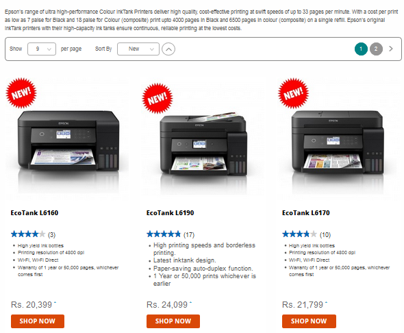 Bring Home An Ecotank Color Printer From Epson Shop Epson Ecotank Printer Ecotank Printer Printer