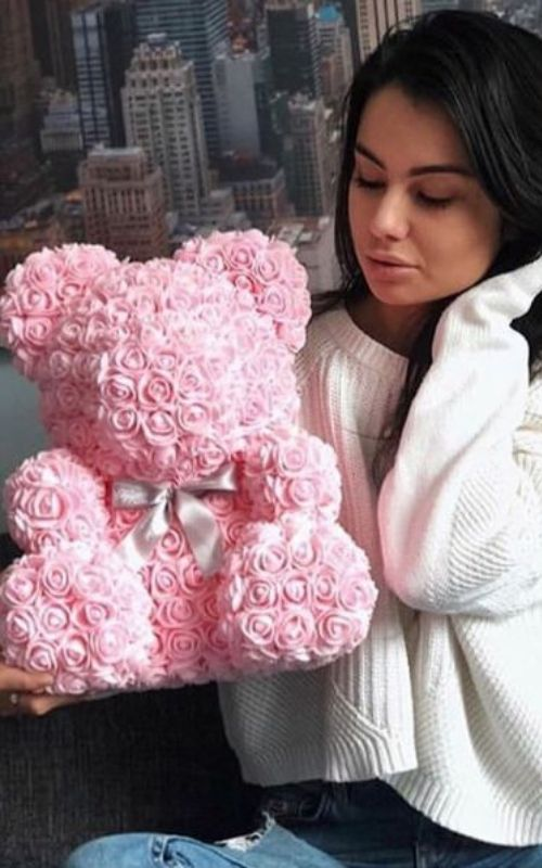 Girls Love Rose Bear | Diy gifts for him, Diy valentines gifts, Bday gifts for him