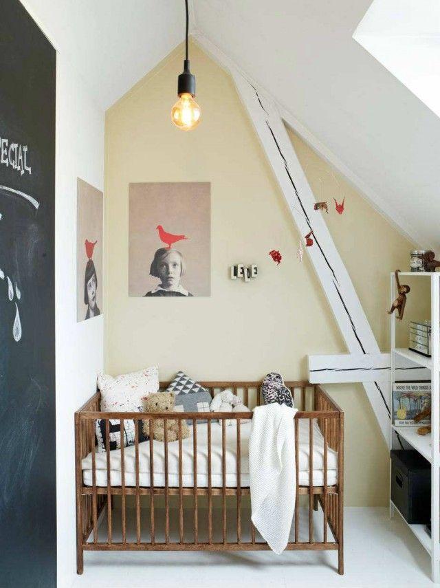 Décorer une chambre d\'enfant mansardée | Nursery, Nursery ...