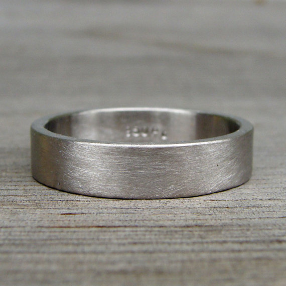 Recycled 950 Palladium Matte Brushed Wedding Band Square Edged Eco Friendly Ethical Mens Or Womens Made To Order Brushed Wedding Band Palladium Wedding Band Wedding Bands