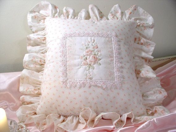 Sears Decorative Shabby Chic Toss Pillows In Pink Shabby Cottage Adorable Sears Decorative Pillows