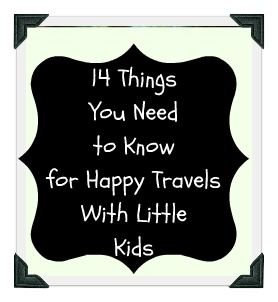 Great advice from Mommy With Selective Memory for travelling with your little ones.