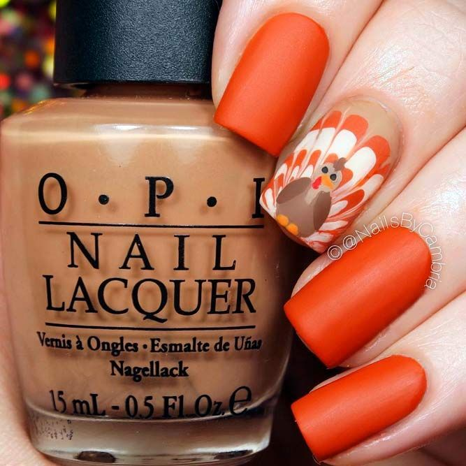 27 Creative Thanksgiving Nails Designs That Will Inspire You All Through  the Fall - 27 Creative Thanksgiving Nails Designs That Will Inspire You All