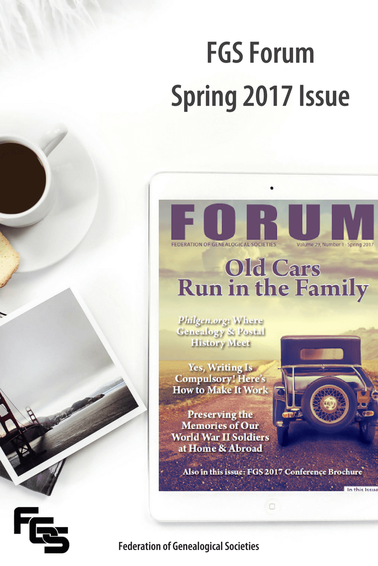 The Spring 2017 issue of FORUM is out! #genealogy