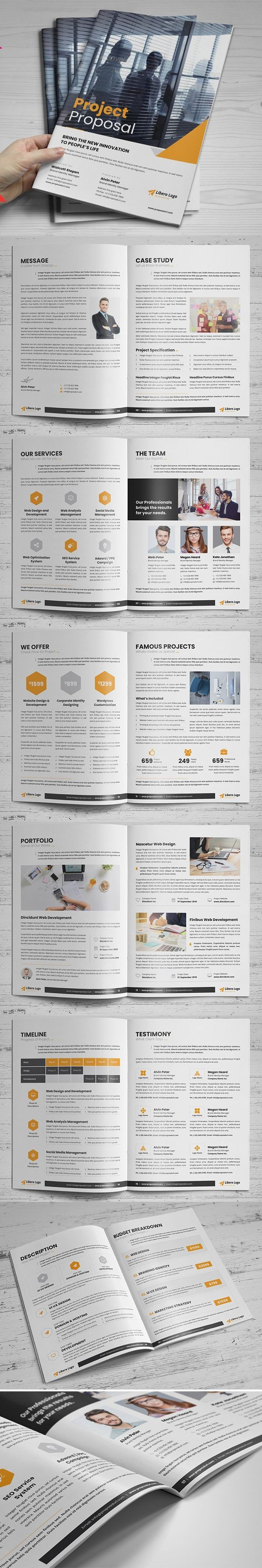 Project Business Proposal Design Free Project Proposal Template Business Proposal Te Graphic Design Brochure Business Brochure Design Brochure Design Template