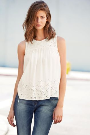 f2cadf78bd5d Buy Broderie Shell Top from the Next UK online shop