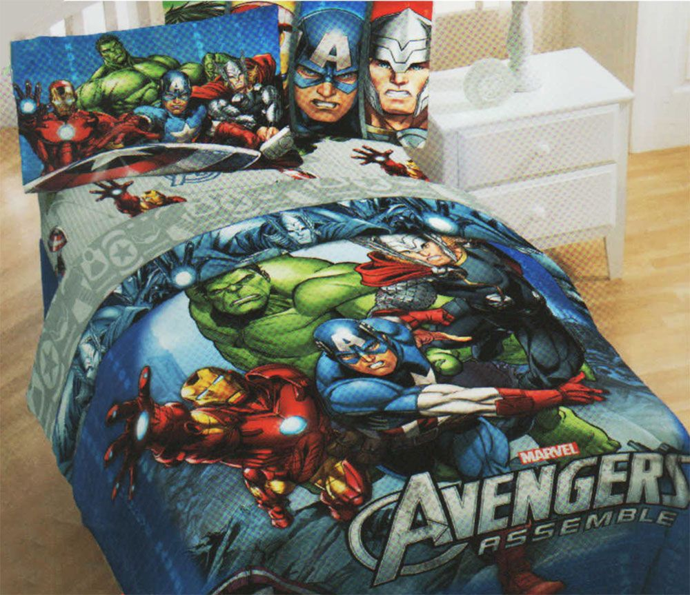 Best Marvel Avengers Twin Full Comforter Comic Book Superhero 640 x 480