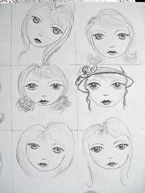 https://flic.kr/p/5mbGrb | Lesson 1 Faces 2 | My face drawing from Lesson 1 of the Suzi Blu drawing workshop. Think I ought to start drawing the faces of my fairies? I've been flirting with the idea of doing so. It would give my work a more unique edge.