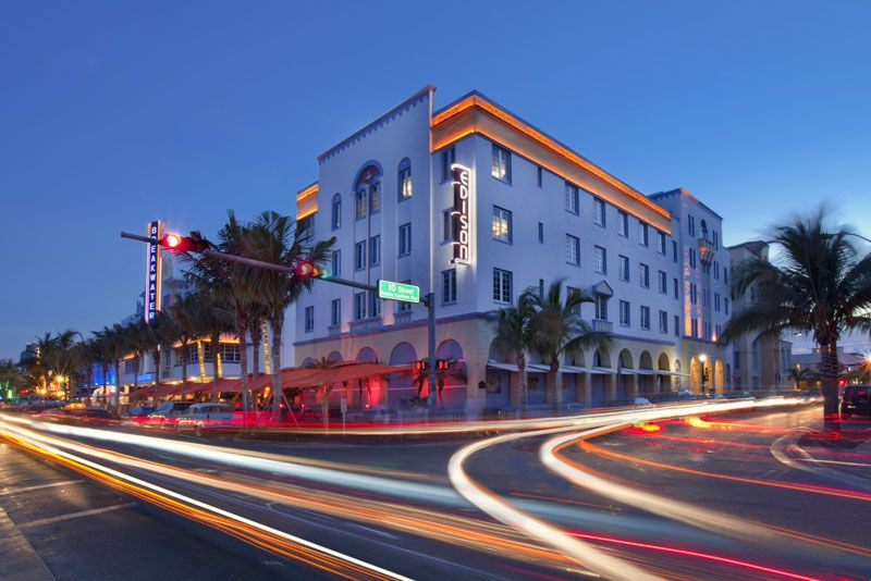 Edison Hotel On Ocean Drive South Beach Miami Florida