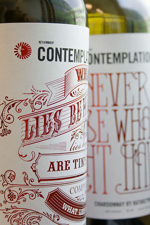 Contemplations Chardonnay 2014 on Packaging of the World - Creative Package Design Gallery