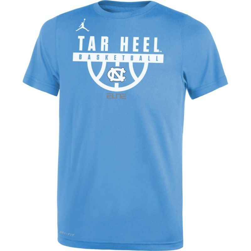 Jordan Youth North Carolina Tar Heels Carolina Blue Basketball Legend T- Shirt, Boy's,