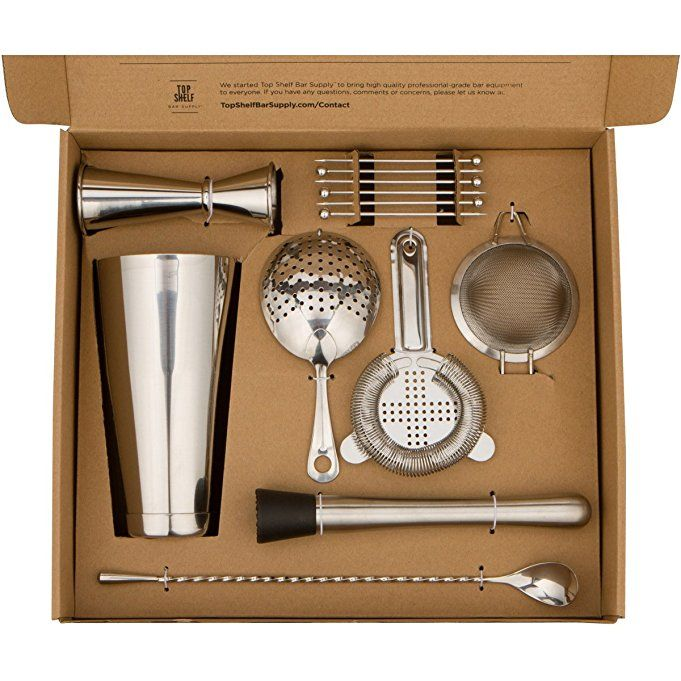 Professional Craft Bar Set Full Kit Of 14 Pro Tools For Bartenders And Home