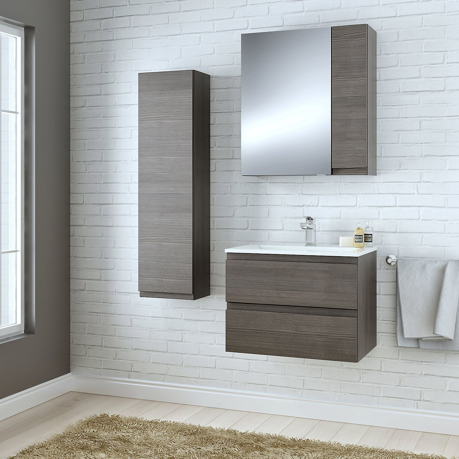 Cooke Lewis Paolo Bodega Grey Vanity Unit Basin Set Grey Furniture Grey Bathroom Furniture Bathroom Furniture