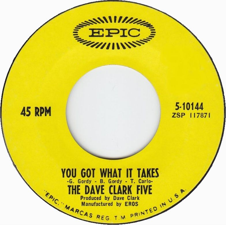 You Got What It Takes The Dave Clark Five 1967 Music