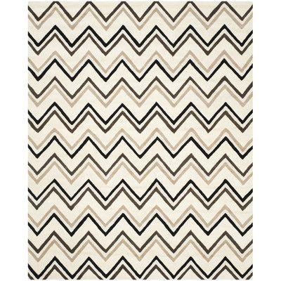 Varick Gallery Martins Ivory / Black Area Rug Rug Size: 9' x 12'