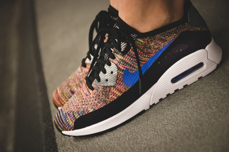 nike air max 1 flyknit multicolor trainer