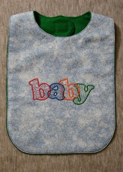In the hoop bib, free | Applique/Embroidery | Machine embroidery