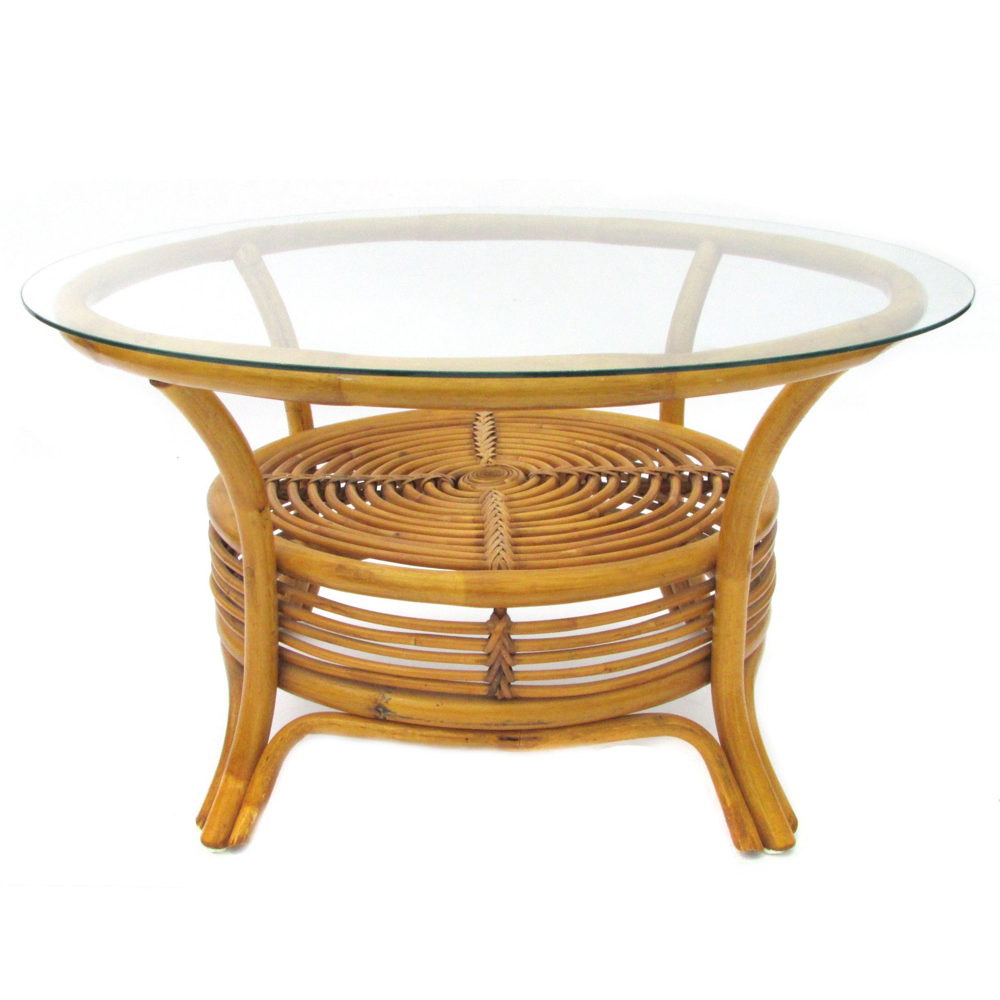 Round Rattan Coffee Table Tables Pinterest