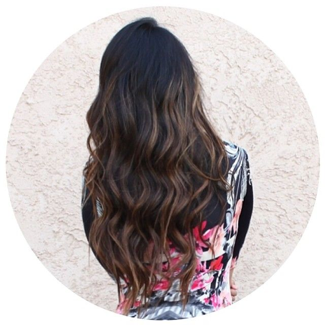 Like this ombré with the really dark base