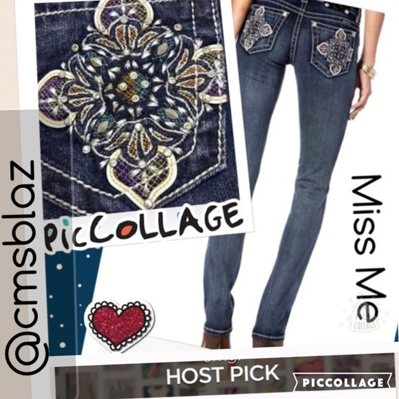 ❤️HOST PICK❤️1/18/2016 Miss Me straight leg jeans just in miss me NWT straight leg 31x33.5 enchanted blossom colorful jeans.  Miss Me Jeans Straight Leg