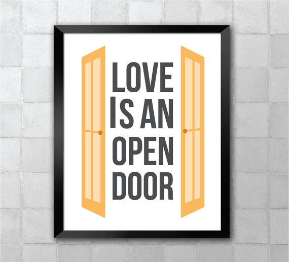 Frozen Love Is An Open Door Lyric Quote 8x10 Art Print Lyric Quotes Frozen Love Lyrics