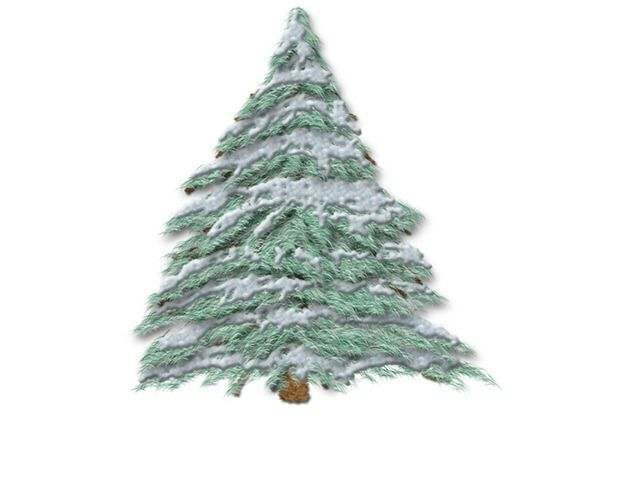 Painting A Christmas Tree In Photoshop Hoffman Art Design Christmas Tree Christmas Tree Drawing Tree Drawing