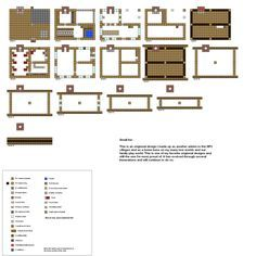 Minecraft floorplans small Inn by ColtCoyote on DeviantArt