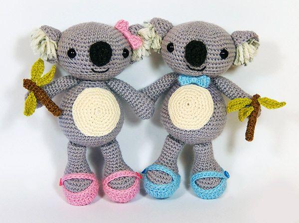 Karl and Karla Koala amigurumi pattern by Janine Holmes at Moji-Moji ...