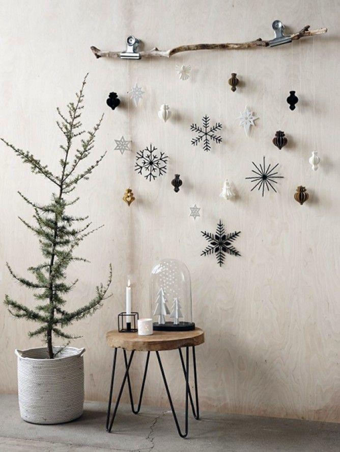 decoration de noel avec des branches