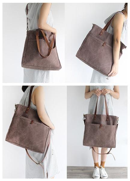 b607312720db Handmade Canvas Tote Bag Messenger Bag School Bag Handbag Shoulder Bag 16000  - LISABAG