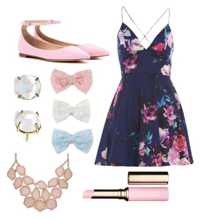 """""""Spring outfit"""" by jennisa-penner on Polyvore featuring AX Paris, Gianvito Rossi, Decree, Clarins, women's clothing, women, female, woman, misses and juniors"""