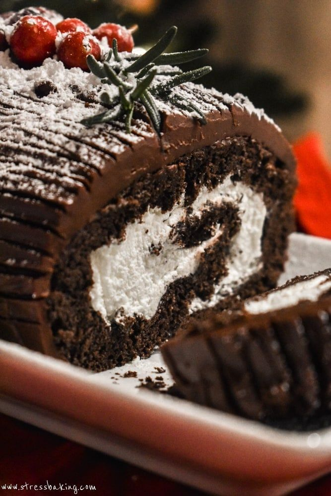 Yule Log Cake (Bûche de Noël) | Stress Baking