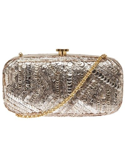 8b1a72e5b0 OSCAR DE LA RENTA - embroidered sequined clutch 9