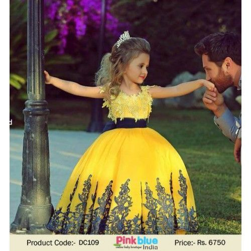 c3f64cb5f65 Indian Designer Kids Ball Gown Wedding Dress for Little Princess -    kidsOutfit   kidsWear  weddingwear  designerclothes  weddinggown   pinkblueindia
