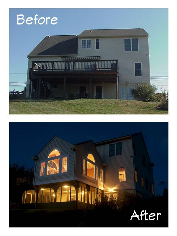 Dramatic Sunroom Addition With Deck And A Screened In Patio Below In Freeland Md By Bel Air