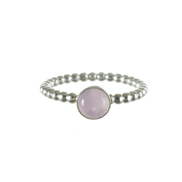 Rose Quartz Stacking Ring   Lucy Flint Design   Beautifully Handmade Silver Jewellery