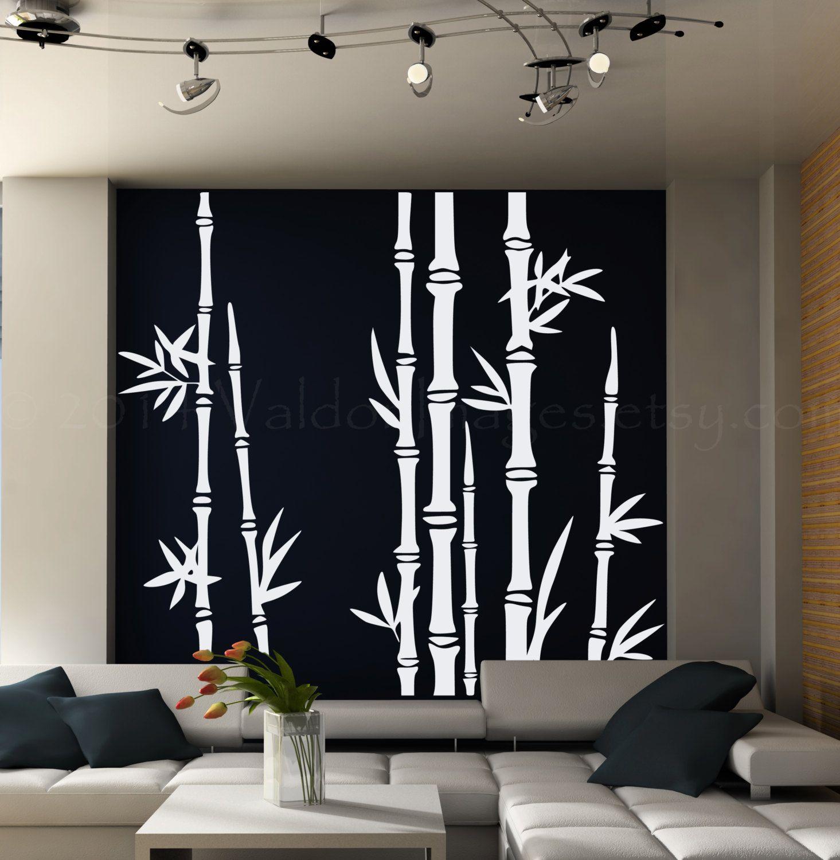 Bamboo Tree Wall Decal Living Room Wall Decal Tree Wall Decal - Vinyl wall decals bamboo
