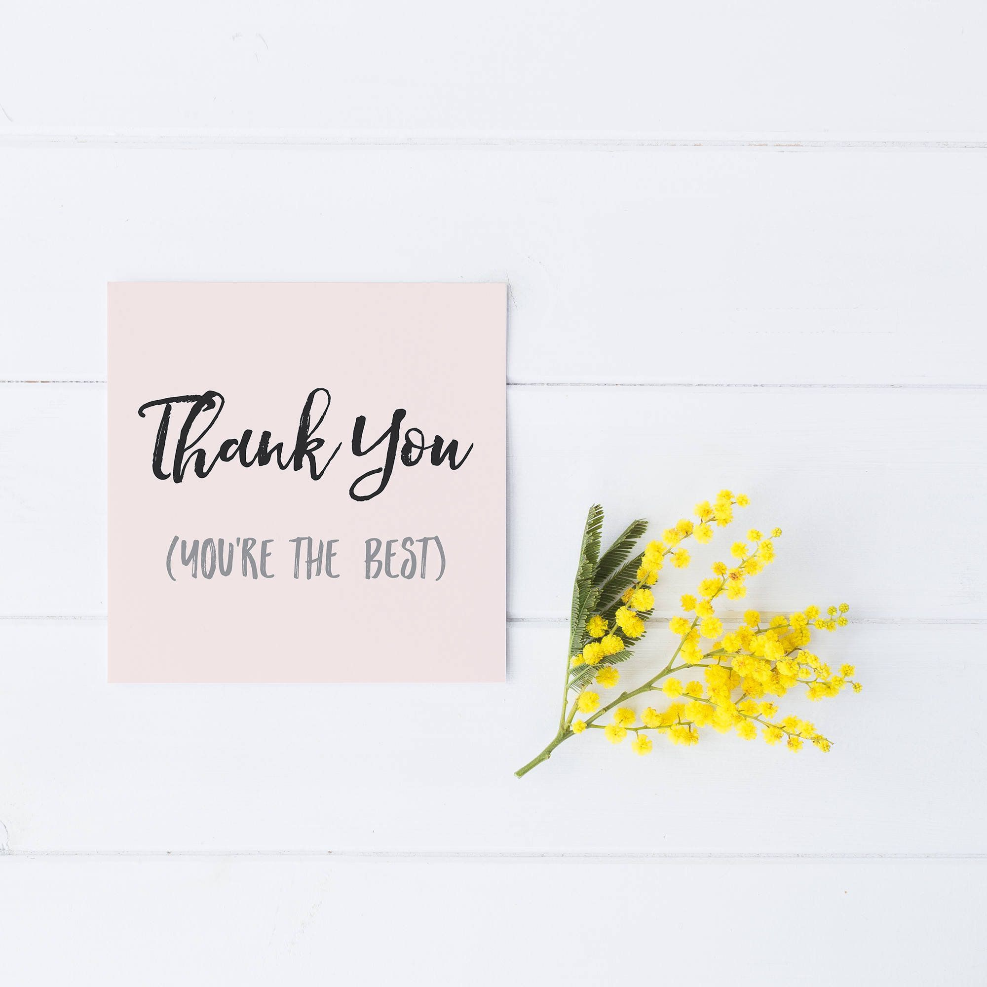 You Re The Best Card Thank You Card Wedding Thank You Card