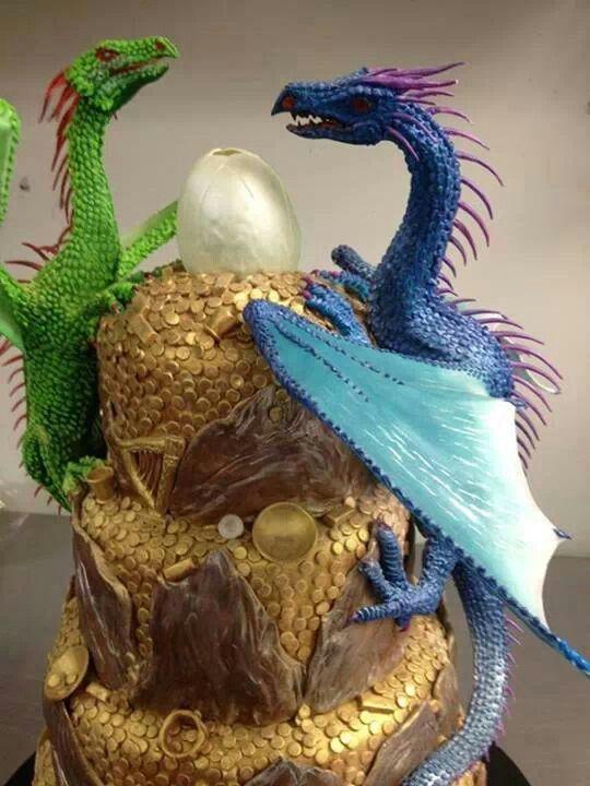 Awesome dragon cake.