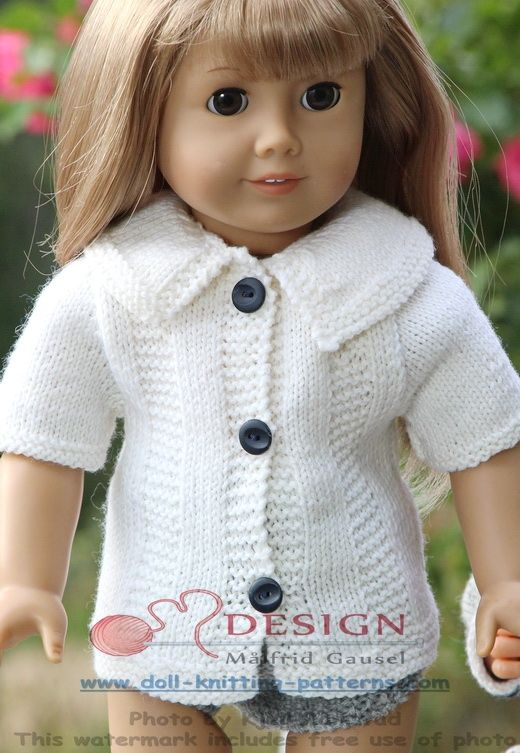 18 inch doll knitting patterns | Knitting dolls clothes ...