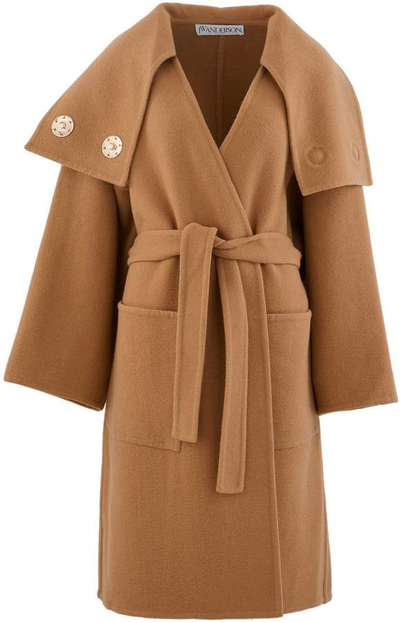 j.w.anderson Wrap Front Trench Coat ($820) liked on