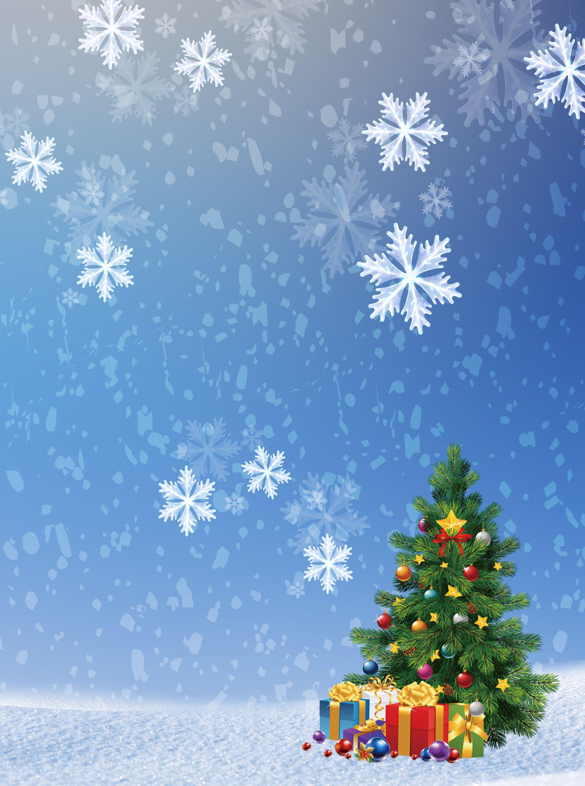 Azul,Hermosa,Copo de nieve,Arbol de Navidad,Poster background ...