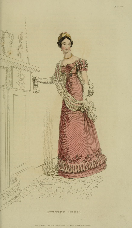 Regency Era Fashions - Ackermann's Repository 1823