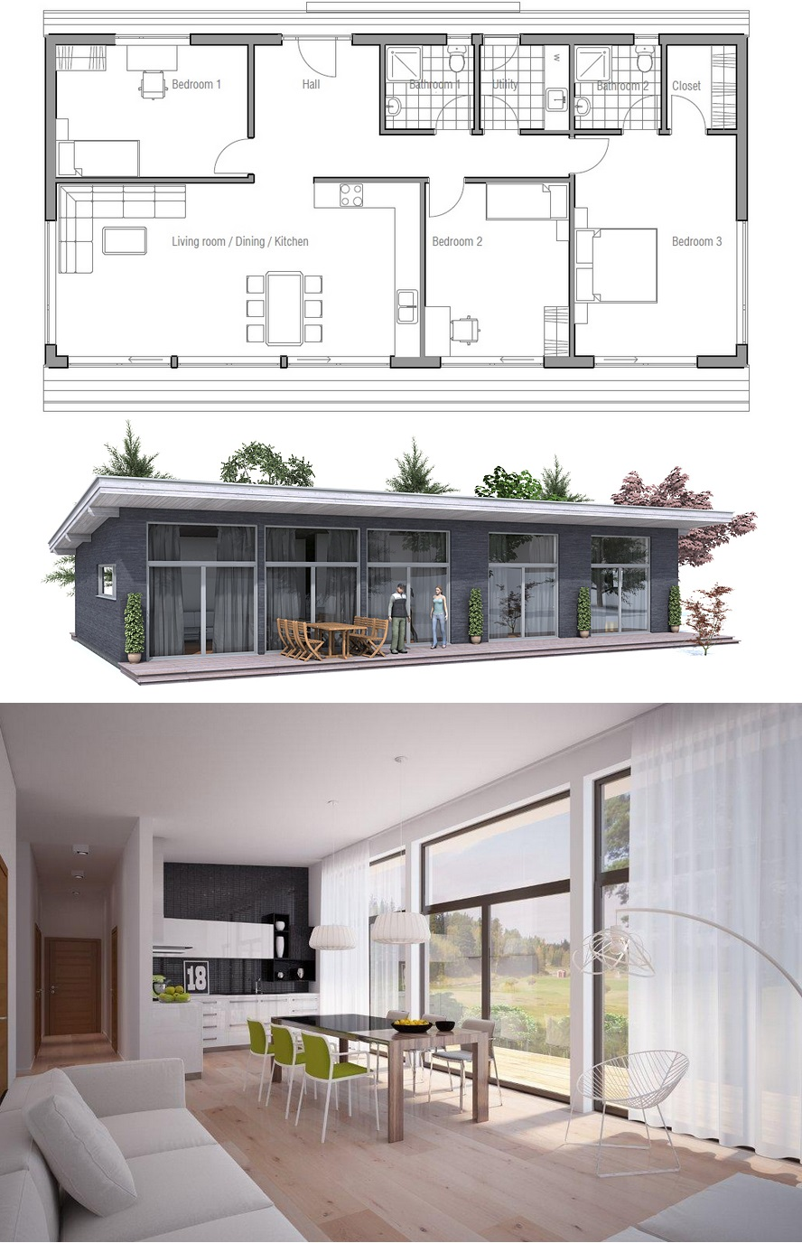 Floor Plan Ch64 Small House Design Architecture Modern Small House Design Modern Architecture House