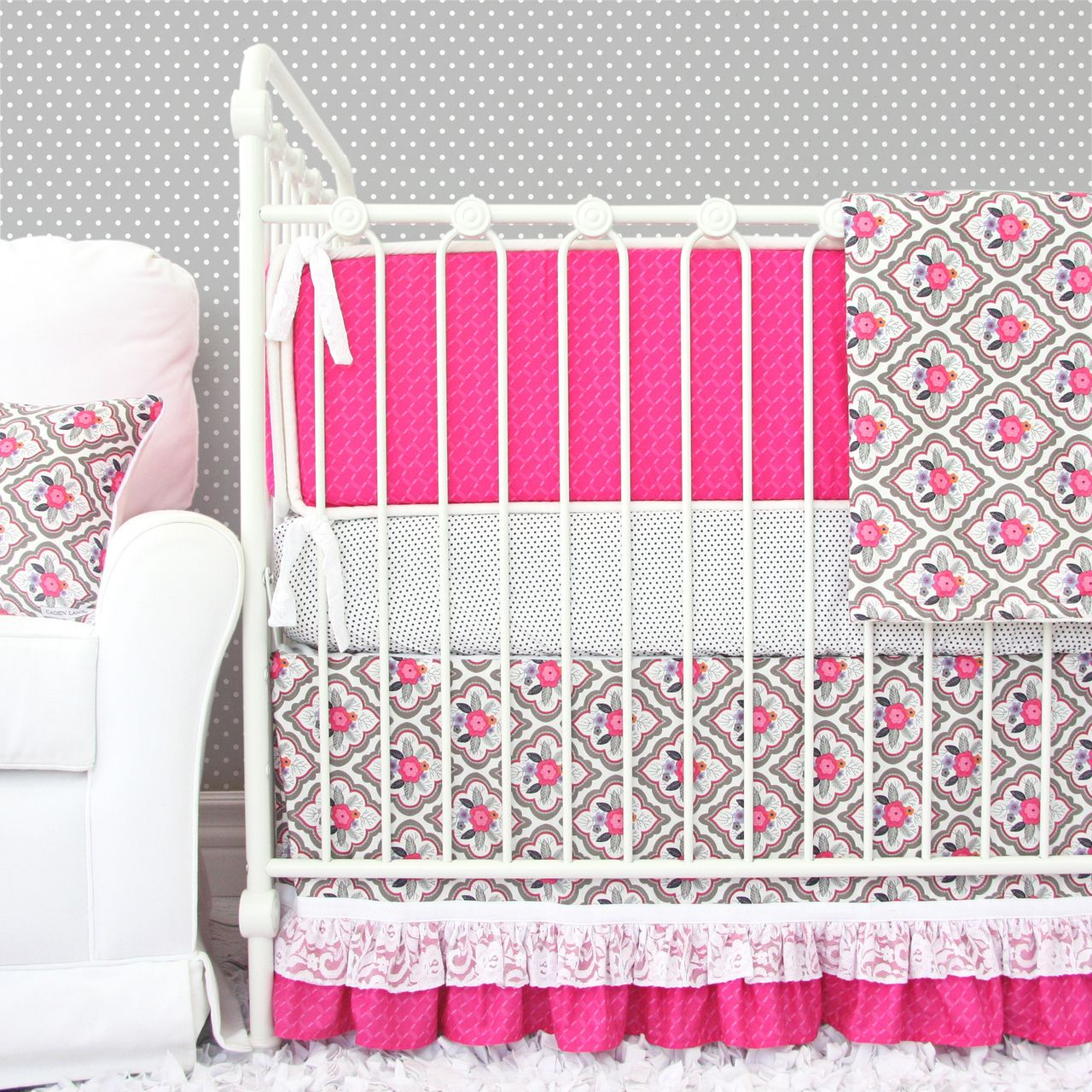 Vintage Floral With A Modern Twist We Love This Crib